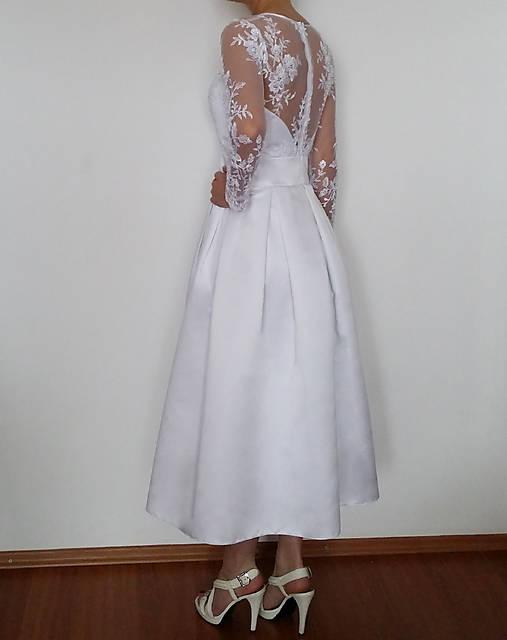 Svadobné šaty vo vintage štýle z luxusnej tylovej krajky   Dyona ... b8e1b23182e