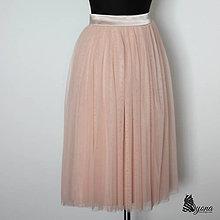 Sukne - Tylová sukňa so saténovým pásom rôzne farby - 5321787_
