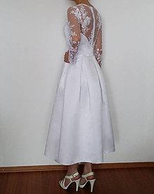 Šaty - Svadobné šaty vo vintage štýle z luxusnej tylovej krajky - 5322540_