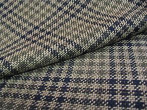 Textil - Káro zeleno béžové - 5322246_