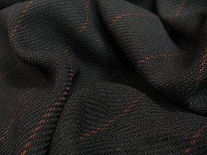 Textil - Tmavošedá s oranžovým prúžkom - 5322295_
