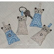 Kľúčenky - kľúčenka mačička - 5323667_