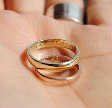 Prstene - klasika je klasika - zlatá obrúčka - 5327118_