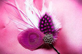 Ozdoby do vlasov - Fascinátor z peria - 5324318_