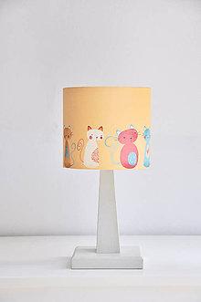 Detské doplnky - Stínítko dětské Kočičky - stolní/stropní - 5325864_