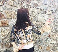Kabáty - riflovka LEL, shabby chic - 5327595_
