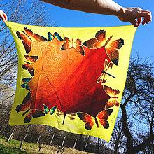 Šatky - Šatka Motýle Jacquard - 5326312_