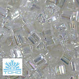 TOHO rokajl (Triangle 2mm) Trans-rainbow crystal