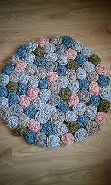 Úžitkový textil - koberec samá ruža - 5325047_