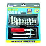 Pomôcky/Nástroje - Sada vyrezávacích nožov 13-dielna PT5939 - 5325360_