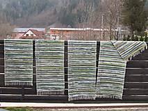 Úžitkový textil - koberec tkaný  70 x 200 cm Zelený - 5327139_