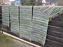 Úžitkový textil - koberec tkaný  70 x 200 cm Zelený - 5327140_