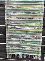 Úžitkový textil - koberec tkaný  70 x 200 cm Zelený - 5327143_