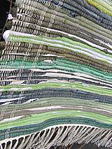 Úžitkový textil - koberec tkaný  70 x 200 cm Zelený - 5327151_