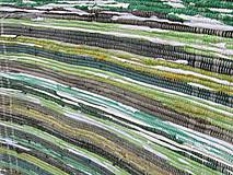 Úžitkový textil - koberec tkaný  70 x 200 cm Zelený - 5327156_