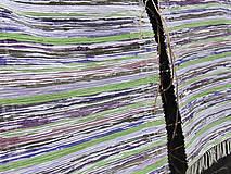 koberec tkaný  70 x 130 cm fialová/zelená