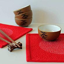 Úžitkový textil - Správná chvíle na zelený čaj - 5327544_