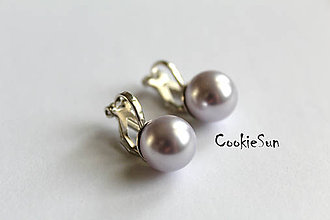 Náušnice - Klipsne Swarovski Pearls Lavender Rh - 5325923_