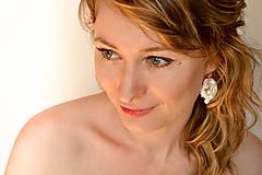 Náušnice - Svadobné šujtášové náušnice  (Ružová) - 5327458_