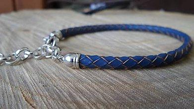 Šperky - pánsky kožený náramok - 5326784_