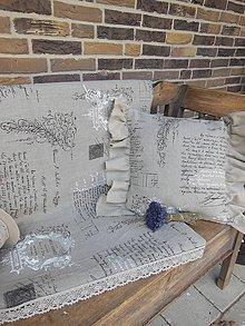Úžitkový textil - Ľanový obrus Shabby Dream - 5326858_