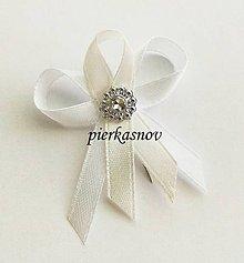 Pierka - Svadobné pierko malé pre hostí bielo krémové - 5328361_