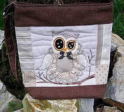 Veľké tašky - taško-kabelka sovičková - 5330172_