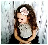 Ozdoby do vlasov - Čelenka-púdrové kvety - 5329749_