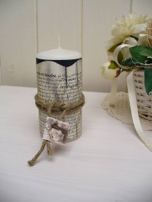 Svietidlá a sviečky - Vintage sviečka - 5329626_