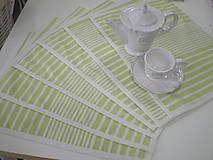 Úžitkový textil - Prestierania - zeleno-biele - 5329062_