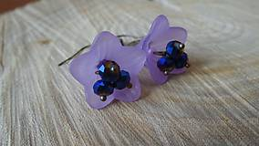 Náušnice - fialkové zvončeky - 5330382_