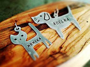 Kľúčenky - Novinka! 2mm hrúbka PUPPY s menom - 5333735_