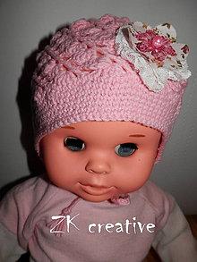 Detské čiapky - Slávnostná - točená čiapočka - 5334060_
