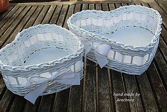 Dekorácie - Svadobné košíčky - menšie sady (biela) - 5333364_