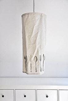 Svietidlá a sviečky - Závěsné stínítko lněné Příbory - 5333504_
