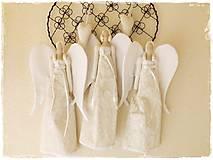 Bábiky - Biely anjelik s dlhými krídlami - 5331451_