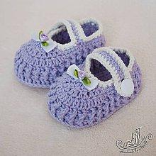 Topánočky - Papučky fialové - 5332182_