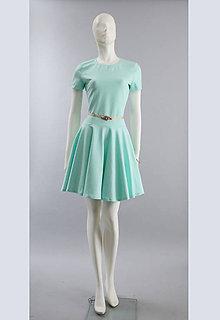 Šaty - Šaty s kruhovou sukňou....mint - 5337164_