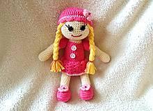 Hračky - Bábika v ružovom šate :) - 5336816_