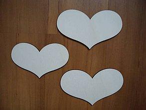 Materiál ručne robený - Srdce široké 10x6 cm - 5337453_