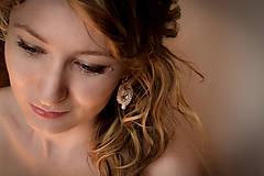 Náušnice - Svadobné šujtášové náušnice  (Ružová) - 5335577_