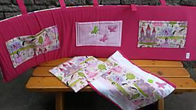 Textil - Zástenka -vzor magenta princesse - 5340817_