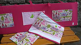 Textil - Zástenka -vzor magenta princesse - 5340819_