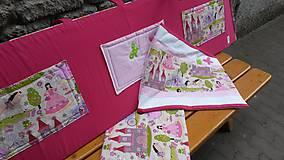 Textil - Zástenka -vzor magenta princesse - 5340824_
