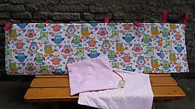 Textil - Zástenka -vzor magenta princesse - 5340841_