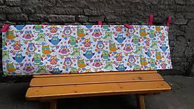 Textil - Zástenka -vzor magenta princesse - 5340844_