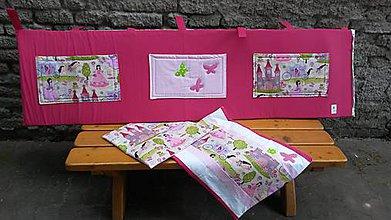 Textil - Zástenka -vzor magenta princesse - 5340818_