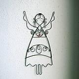 Dekorácie - krojovaný anjelik 17cm  folk - 5338697_