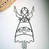Dekorácie - krojovaný anjelik 17cm  folk - 5338701_