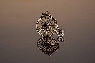 Komponenty - Kovová ozdoba, retro bicykel, 5 ks/bal. - 5341738_